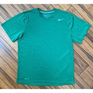 Nike Men's Dri-Fit Green T Shirt Size Medium